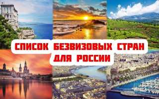 Безвизовые страны для россиян в 2021 году.