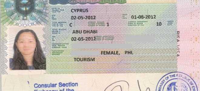 Виза на Кипр: правила оформления провизы, получение онлайн