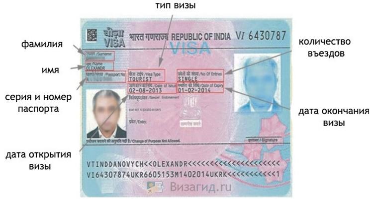 Дата выдачи визы где смотреть