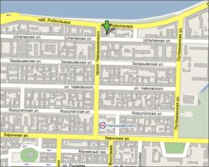 Карта расположение центра