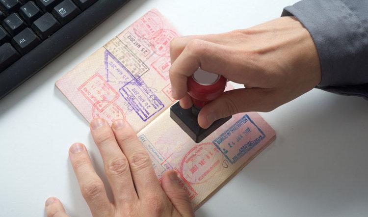 Отметка в паспорте при пересечении границы Израиля